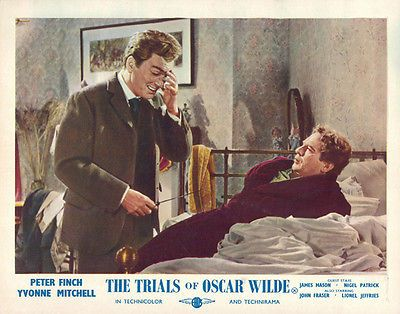 Trials of Oscar Wilde Peter Finch John Fraser in bedroom