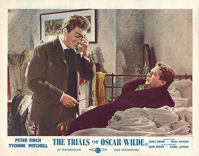 Trials of Oscar Wilde Peter Finch John Fraser in bedroom