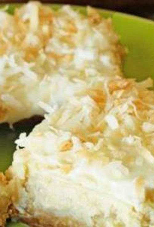 These cheesecake bars taste just like a torpical island getaway. And who couldn't use that during this time of year?