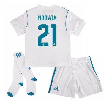 Real Madrid Alvaro Morata 21 kläder Barn 17-18 Hemmatröja Kortärmad  #Billiga #fotbollströjor