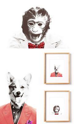 Printable Nursery Art Animals