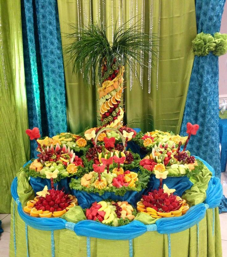 fruit table display high fiber fruits