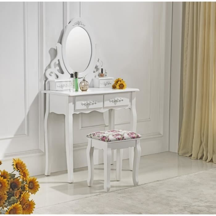 White vanity. IKEA. For more vanity inspiration check out our blog: http://www.kenisahome.com/blog/about-brands/updating-your-vanity/