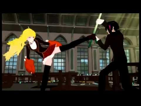 RWBY - Season 2 Episode 1 - BEST FOOD FIGHT EVERRR!!!!!!!!!!!!!!!! Rest in Peace, Monty Oum - YouTube