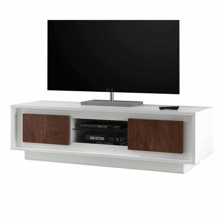 TV Board In Weiß Eiche Cognacfarben Modern Jetzt Bestellen Unter:  Https://moebel.ladendirekt.de/wohnzimmer/tv Hifi Moebel/tv Lowboards/?uidu003dc4272386 5e78   ...