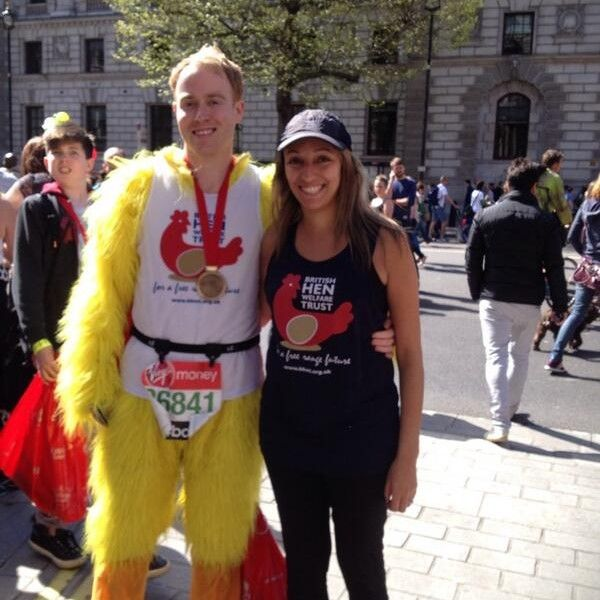 John Melbourne running the London Marathon last year, have you spotted him in this years BBC One TV advert?