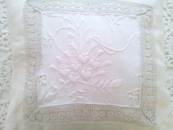 Shabby chic pillow White shabby chic white by clarashandmade, £25.00