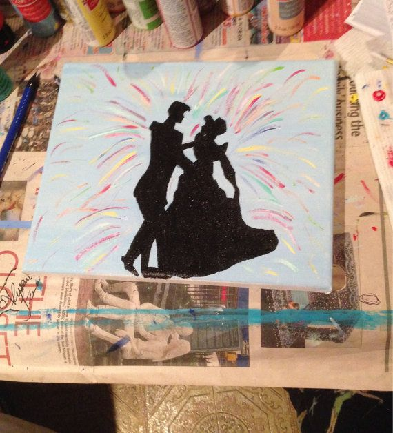 Prince Charming and Cinderella Silhouette by WonderlandShops