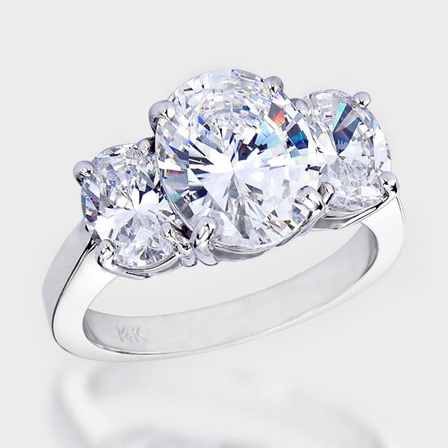 7 best CZ 3 Stone Rings images on Pinterest Cubic zirconia rings