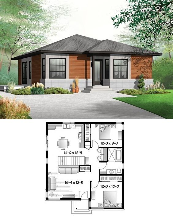 Eplans HWEPL75554 :: 962 sq. ft.