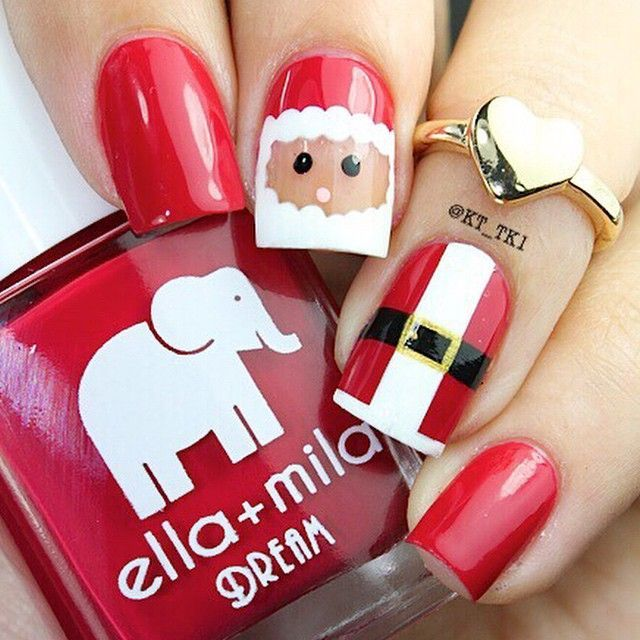 Santa | Christmas Nail Art by kt_tk1