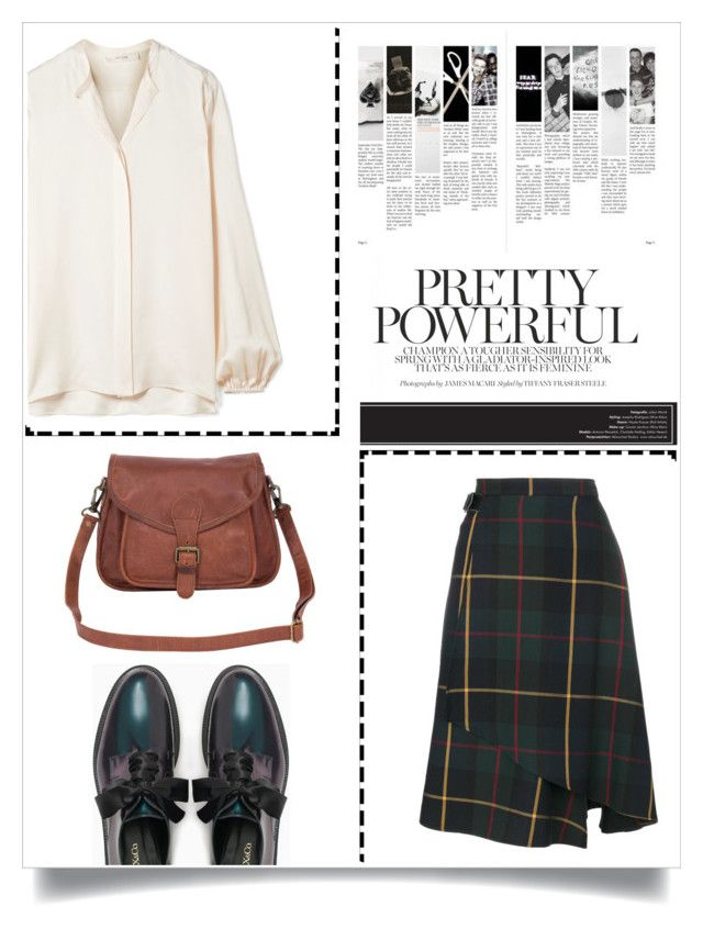 """Vintage"" by eirenechoo on Polyvore featuring The Row, Manoush, Max&Co., Mahi, vintage, silk, oxford and tartan"