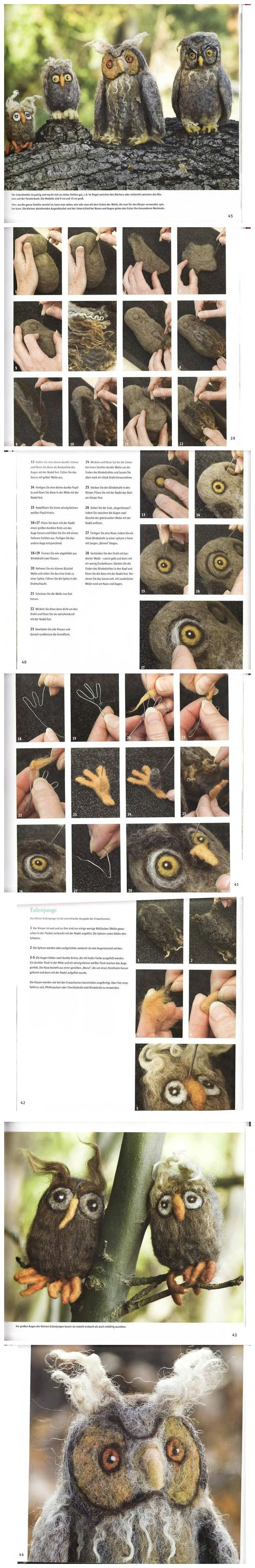 from Kathy Ann Eggers via Deveta Glenn  wols!  owl #tutorial