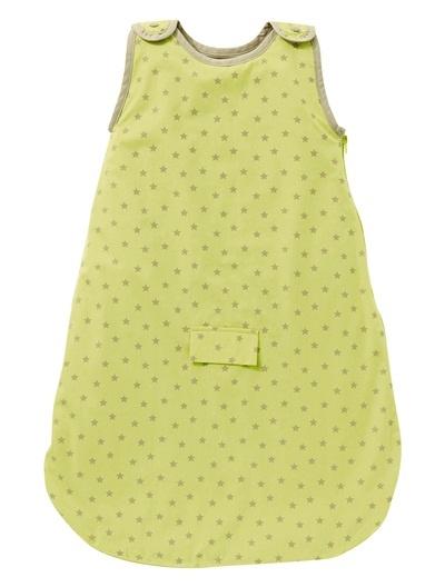 Vertbaudet Schlafsack (Baby Sleeping Bag). Toller Sommerschlafsack für den Autositz. Der schöne Schlafsack weist ein feines Sternchen-Muster auf einfarbigem Grund auf.
