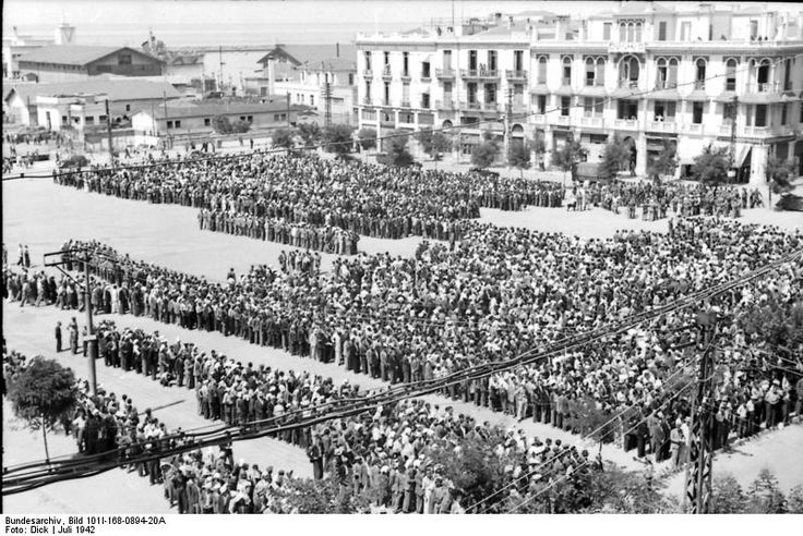 Liberation Square, Thessaloniki, Greece, 1942: 9.000 Jewish citizens of the German occupied city are assembled in the Liberation Sq., and are asked to perform gymnastic exercises. The under-performers are doomed.: 1942 Black, Thessaloniki Greece, 11Th July, July 1942, Jewish History, Jewish Citizen, 9 000 Jewish, Black Sabbath, German Journalist