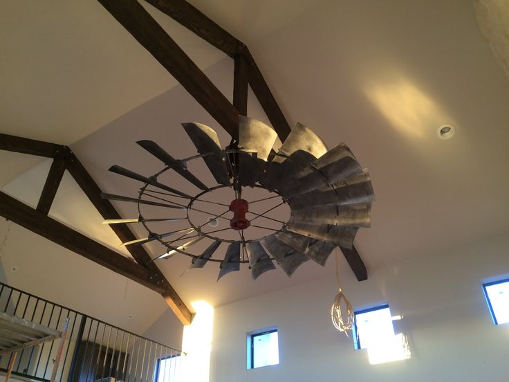 8' Reproduction Vintage Windmill Ceiling Fan- WCFTX