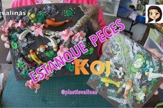 LISTO!!! NUEVO TUTORIAL: ¡ESTANQUE DE PECES KOI! hecho en PLASTILINA