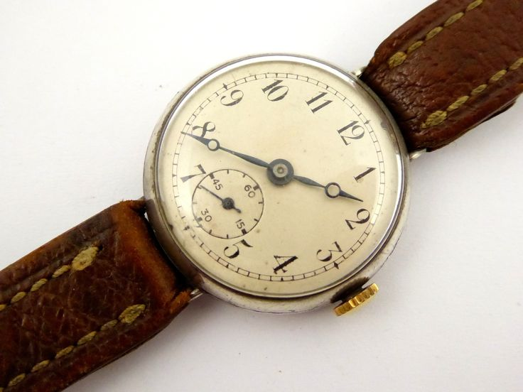 1937 Sterling Silver Military Trench Style Wrist Watch (Needs Work) - The Collectors Bag