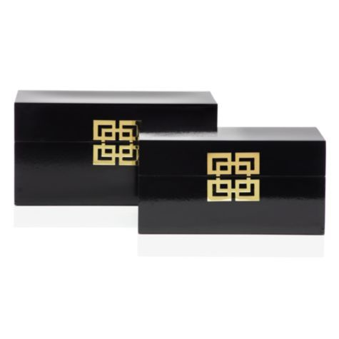 Ming Boxes - Set of 2 from Z Gallerie  ONE IN BOOKCASE TO HOLD SMALL KEEPSAKES