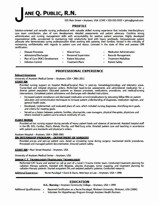 20 Emergency Room Nurse Resume Nursing resume template