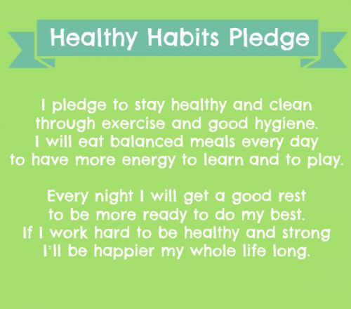 Encourage your students to take the Healthy Habits Pledge, plus more great tips!