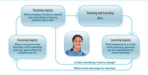 Teaching as inquiry model.