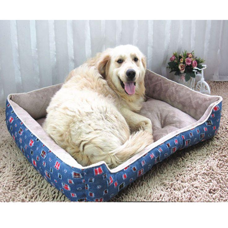 Pet bed mat small medium large dog sofá house tela Jean a prueba de agua de gran tamaño suave gato de lujo cojín de labrador bull terrier(China (Mainland))