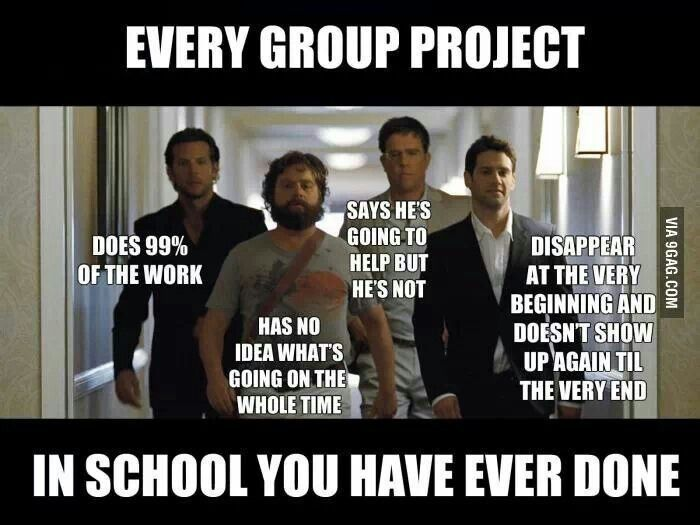 School Memes 101 | Cambio Photo Gallery. And why I hated group work. I was the does 99% of the work person.