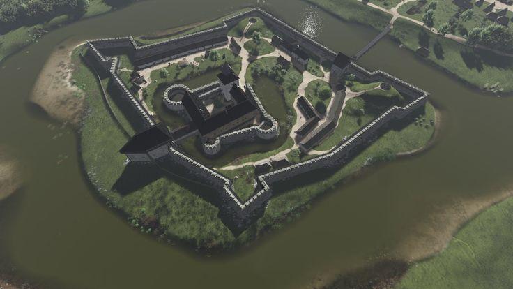Tokaj vára a 15. és a 17. században. (látványrajz)