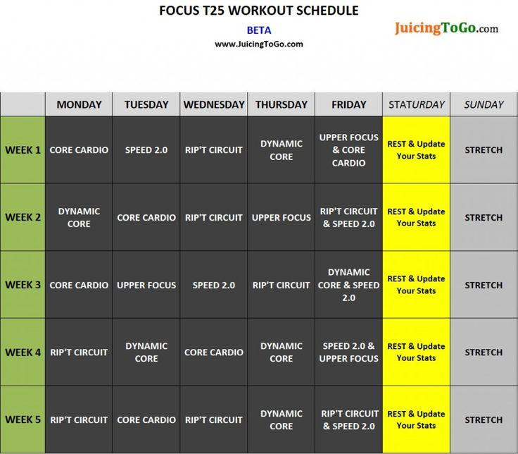 #Focus #T25 #Beta #Calendar - Focus T25 Workout
