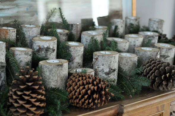 DIY Birch Log Candleholders | Lifeovereasy