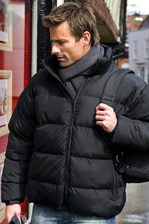 Geacă de bărbați căptuşită Holkam Result Urban din 100% poliester Storm Dri, guler cu căptuşeală din fleece