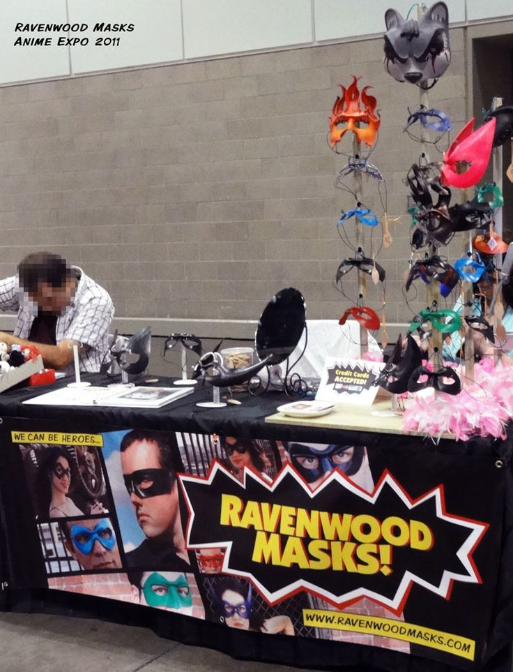 Ravenwood Masks Booth At Anime Expo 2011 By Alyssa Ravenwooddeviantart On