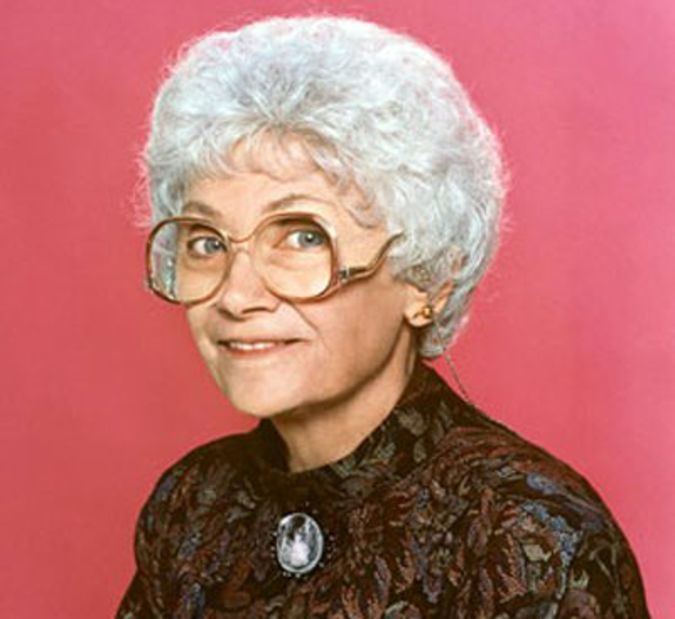 Estelle Getty as Sophia Petrillo in the Golden Girls (1985-92)