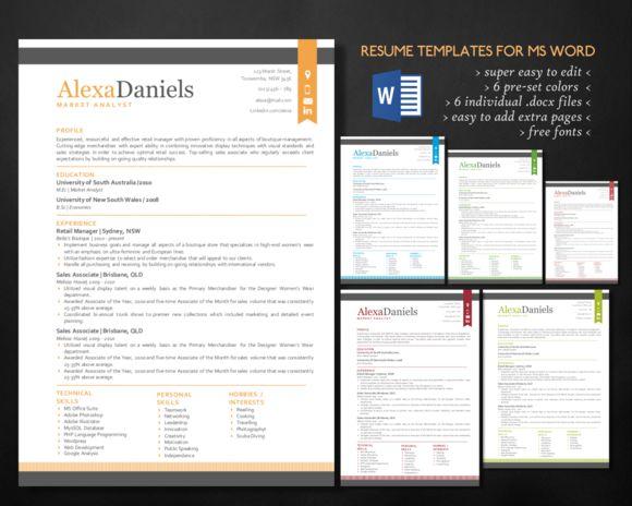 7 best resumes images on Pinterest Resume templates, Resume design