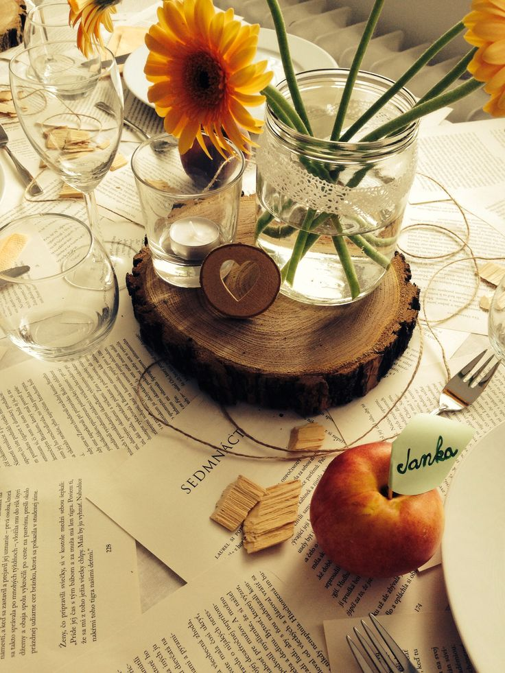 #table#visual#peach#rustic#loveit