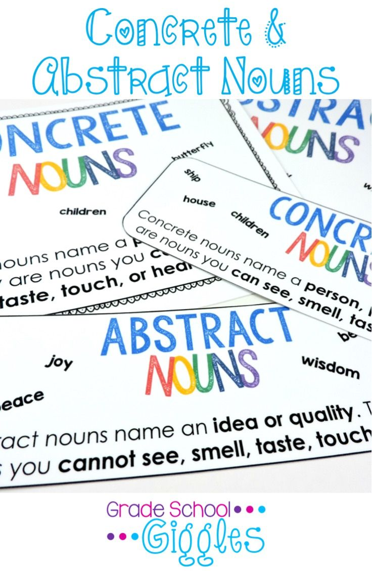 Worksheets Concrete And Abstract Nouns Worksheet the 25 best concrete and abstract nouns ideas on pinterest nouns