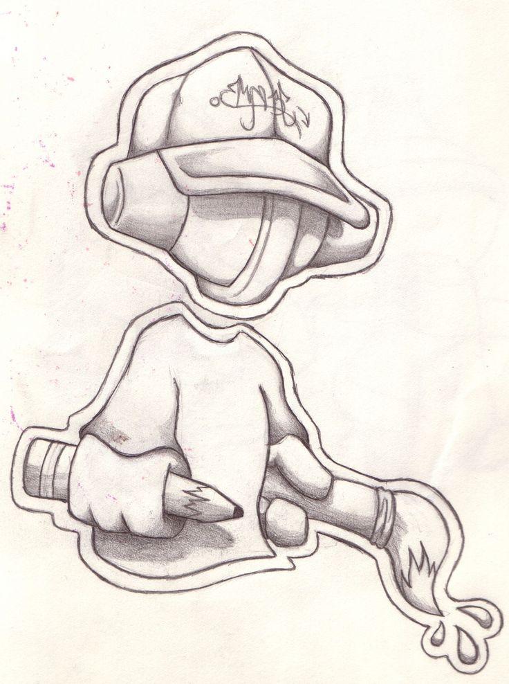 Cool Easy Graffiti Character Drawings | Graffiti Street Art