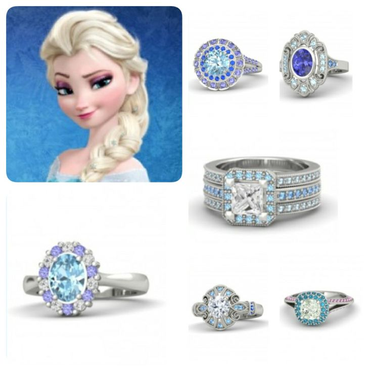 engagement rings inspired by elsa frozen source httpwww frozen weddingdisney - Disney Engagement Rings And Wedding Bands