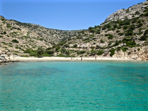 Secluded beach of Alimia