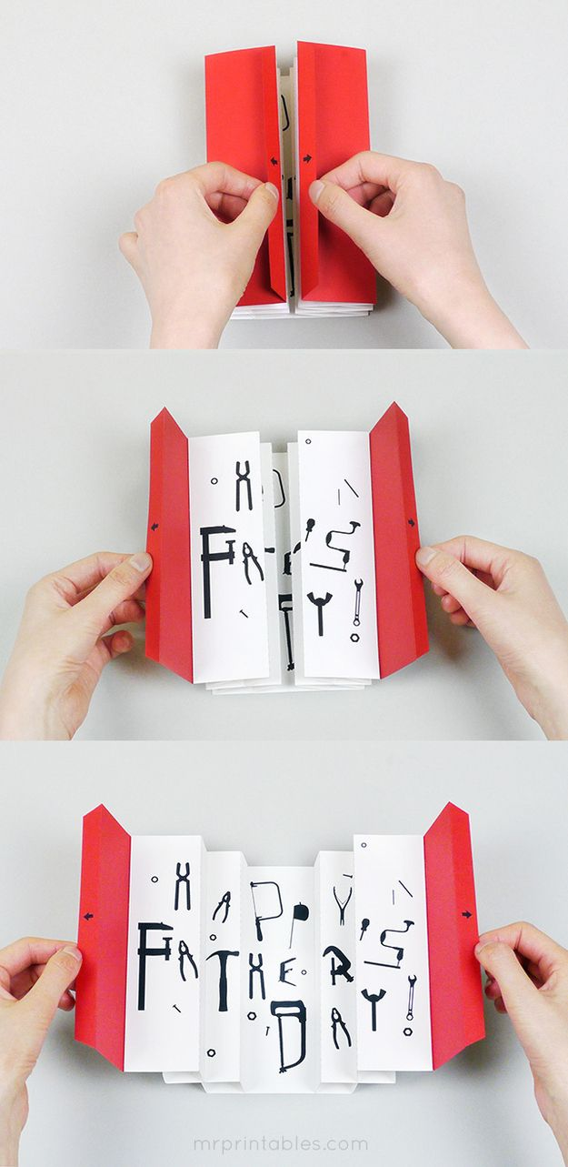 DIY Happy Father's Day card - more here: http://www.mrprintables.com/3d-tool-box-card-for-fathers-day.html?preview=true