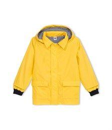 Oliejekker.  Klassieker van Petit Bateau. Is er een fijnere regenachtige dag jas?