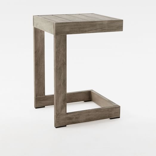 Portside C Side Table, Weathered Gray
