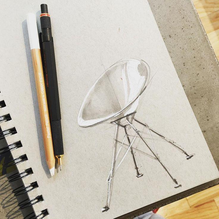 Almost looks like a lunar lander. #sketch #sketches #sketching #sketchaday