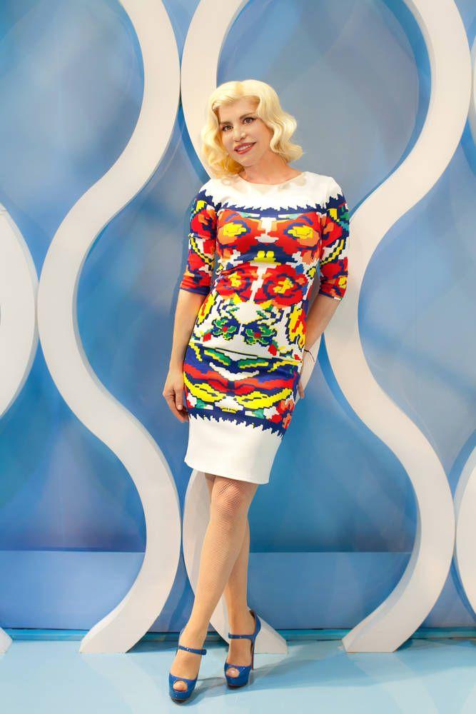 Loredana Groza, singer Carpet Diem Dress by Lana Dumitru  #lana #dumitru #lanadumitru #digitalprint