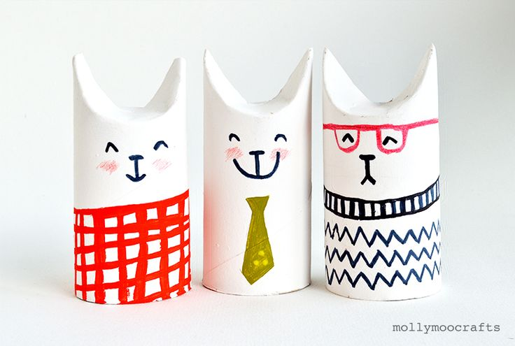 mollymoocrafts.com - Toilet Roll Crafts – Let's Make Sophisti-Cats