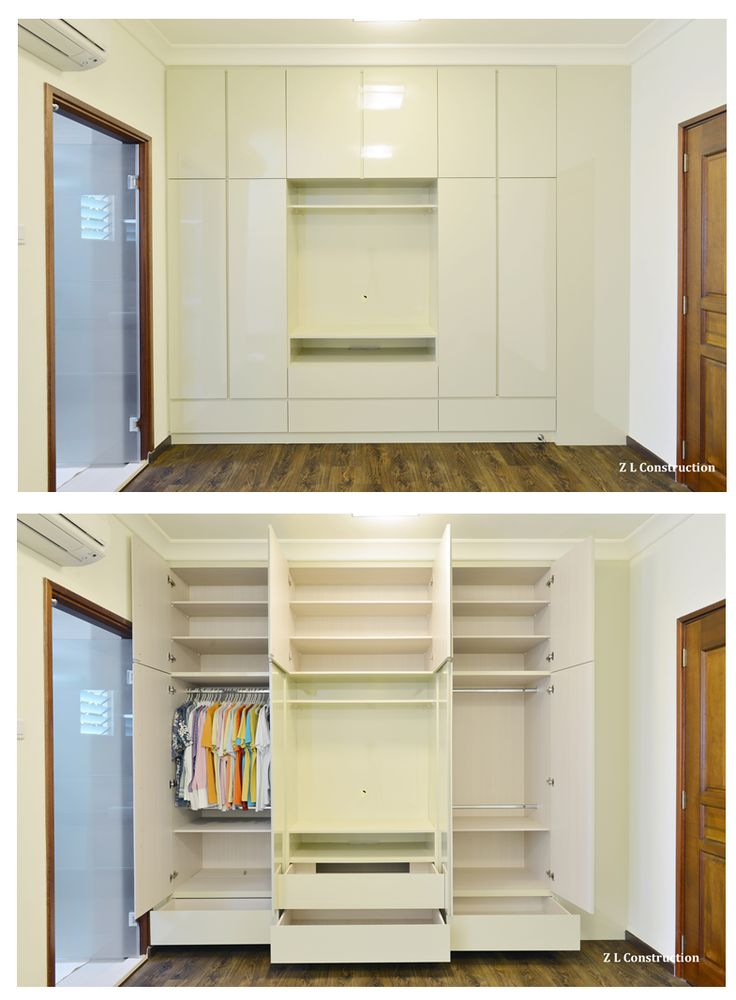 Z L Construction (Singapore) \\ Customized wardrobe with TV point provision