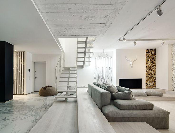 A Bright White Home / FORM Architectural Bureau – nowoczesna STODOŁA | wnętrza & DESIGN | projekty DOMÓW | dom STODOŁA