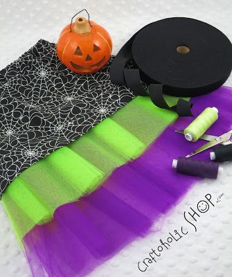 Craftoholic BLOG: DIY - Halloweenowa spódniczka z tiulem!