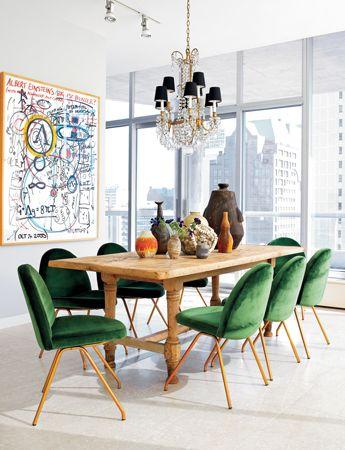 Jade dining room chairs - Nate Berkus Associates #covetlounge @covetlounge